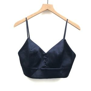 House of Harlow 1960 x Revolve Blue Crop - Size M